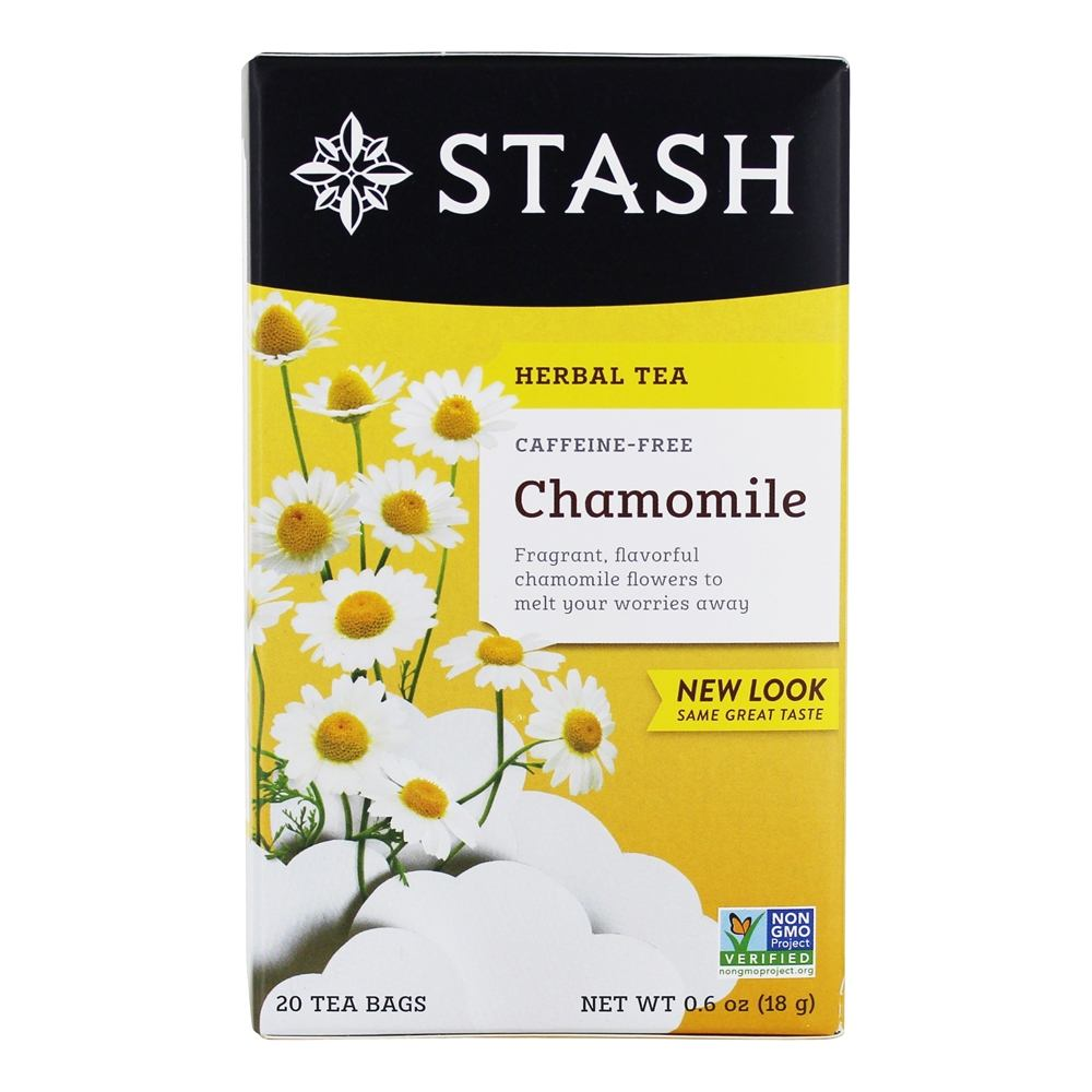 Stash Tea - Premium Caffeine Free Herbal Tea Chamomile - 20 Tea Bags