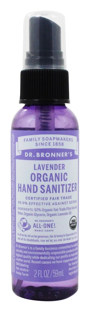 Dr. Bronners - Magic Organic Hand Sanitizing Spray Lavender - 2 oz.