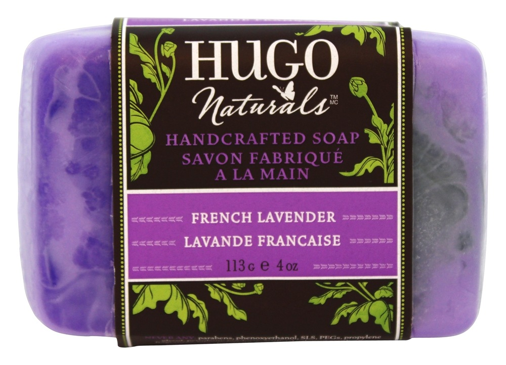 Hugo Naturals - Handcrafted Bar Soap French Lavender - 4 oz.