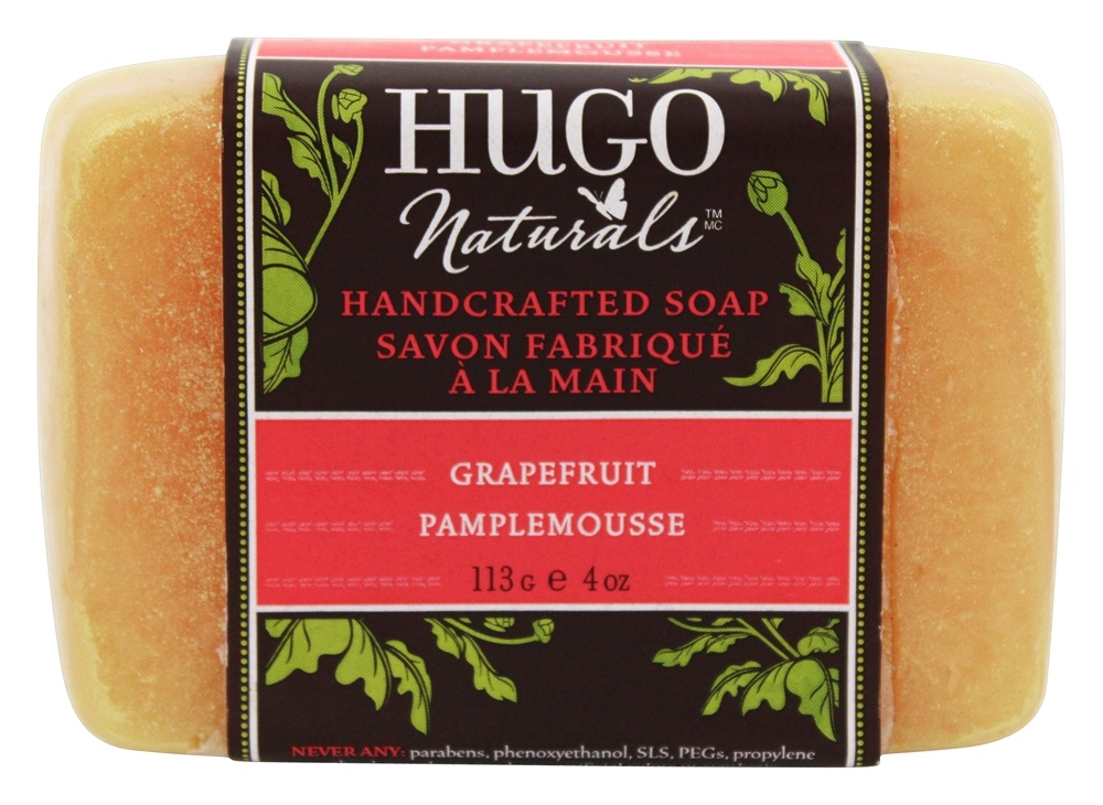 Hugo Naturals - Handcrafted Bar Soap Grapefruit - 4 oz.