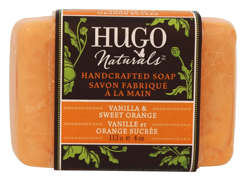 Hugo Naturals - Handcrafted Bar Soap Vanilla & Sweet Orange - 4 oz.