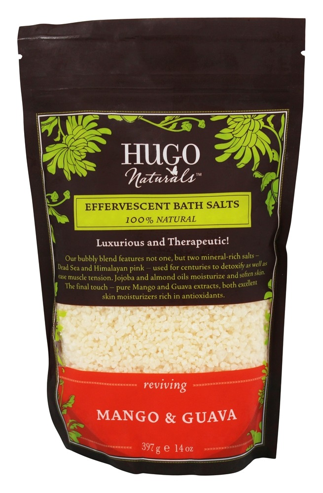 Hugo Naturals - Effervescent Bath Salts Reviving Mango & Guava - 14 oz.