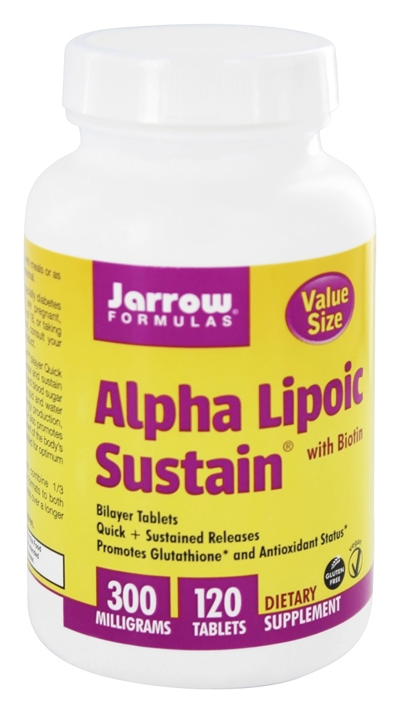 Jarrow Formulas - Alpha Lipoic Sustain with Biotin 300 mg. - 120 Tablets