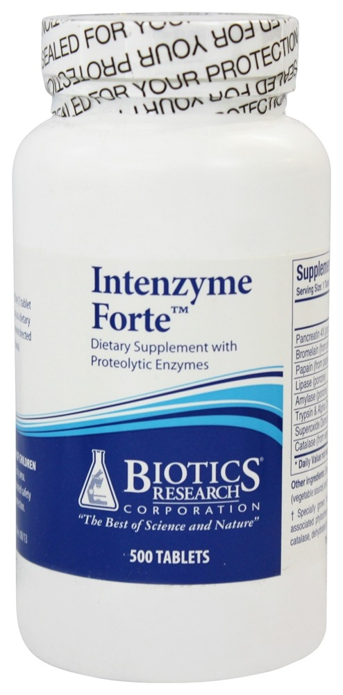 Biotics Research - Intenzyme Forte Proteolytic Enzyme Supplement - 500 Tablets