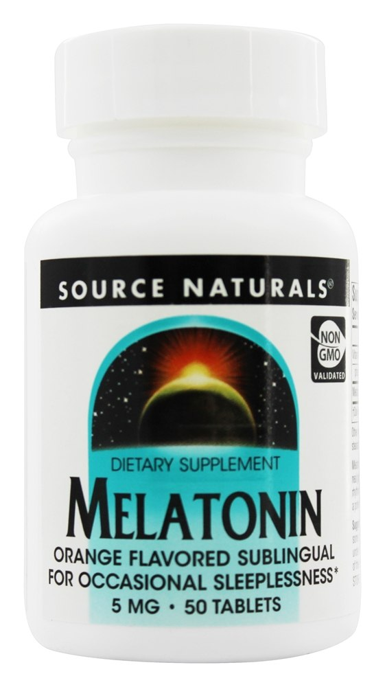 Source Naturals - Melatonin Sublingual Orange 5 mg. - 50 Tablet(s)