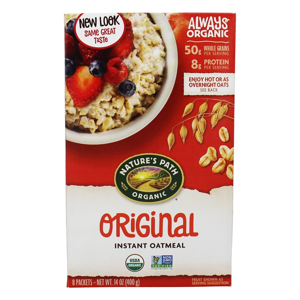 Nature's Path Organic - Instant Hot Oatmeal 8 x 50g Packets Original - 14 oz.