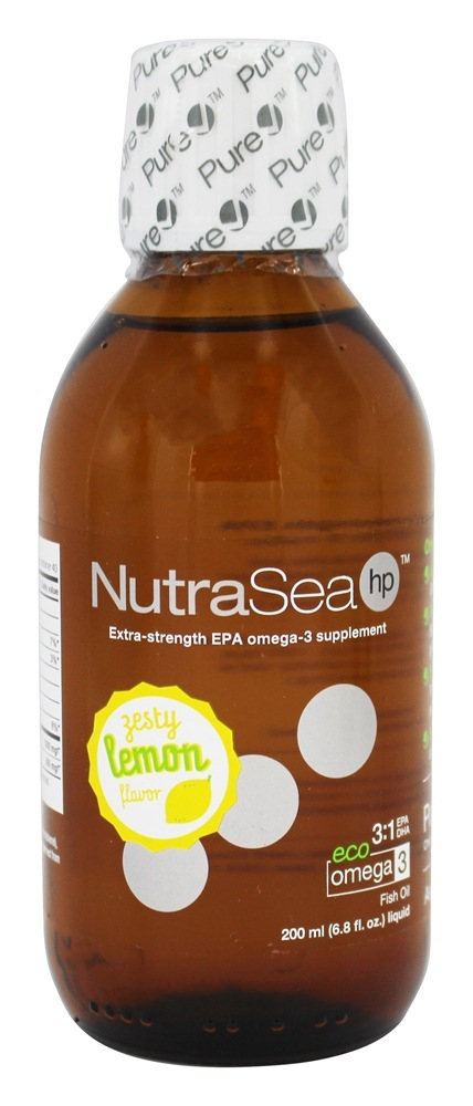 Ascenta Health - NutraSea HP Liquid Extra-Strength EPA Omega-3 Supplement Zesty Lemon Flavor - 6.8 oz.