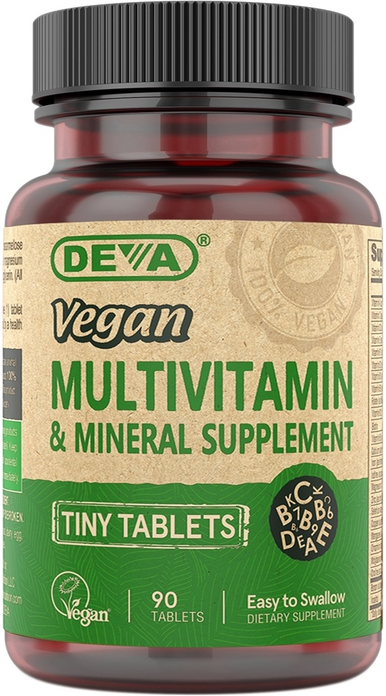 Deva Nutrition - Vegan Multivitamin & Mineral Supplement Tiny Tablets - 90 Tablets