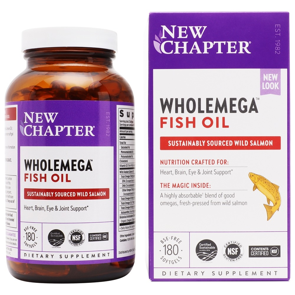 Buy new chapter wholemega omega extra virgin wild for New chapter fish oil