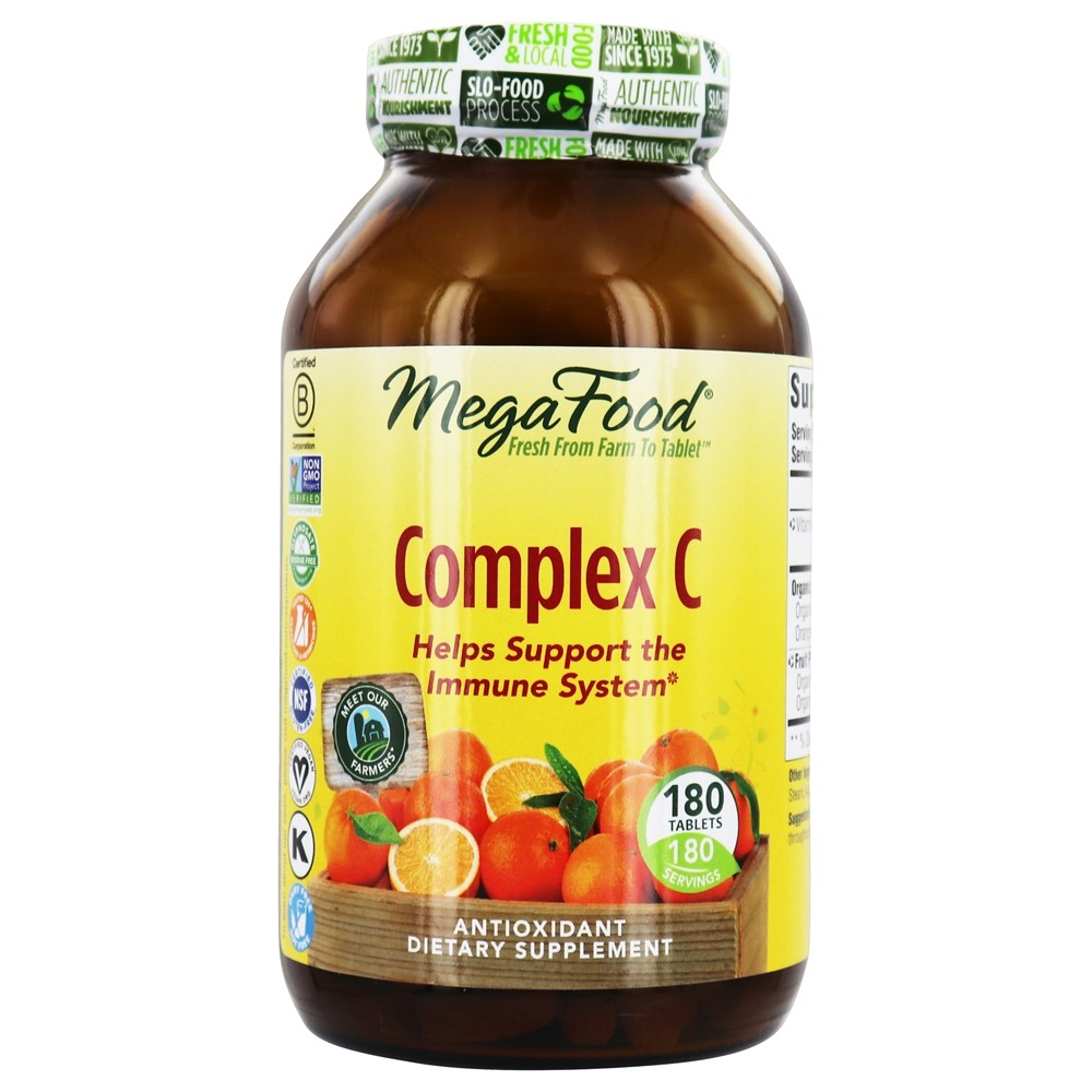 MegaFood - DailyFoods Complex C Organic Bioflavonoid Complex - 180 Vegetarian Tablets