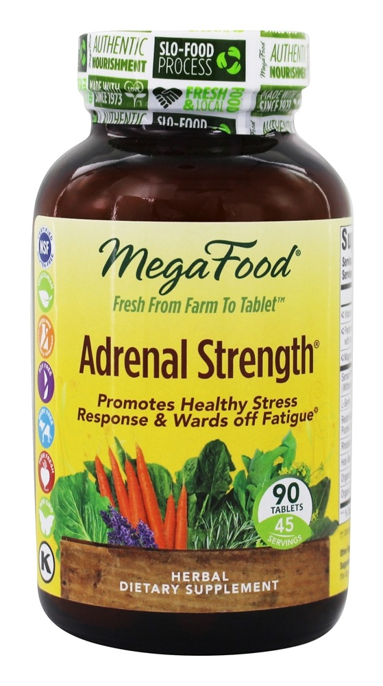 MegaFood - Adrenal Strength - 90 Vegetarian Tablets