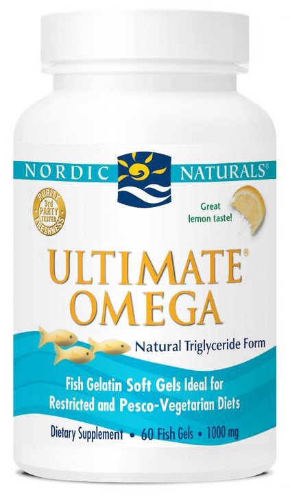 Nordic Naturals - Ultimate Omega Fish Gelatin Lemon - 60 Softgels