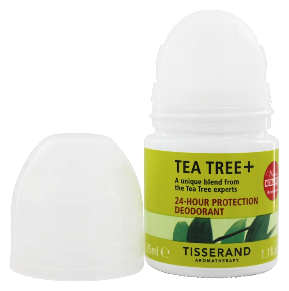 Tisserand Aromatherapy - Deodorant Roll-On Purifying Organic Tea-Tree, Lemon & Rosemary - 1.1 oz.