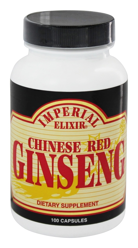 Imperial Elixir - Chinese Red Ginseng 1000 mg. - 100 Capsules