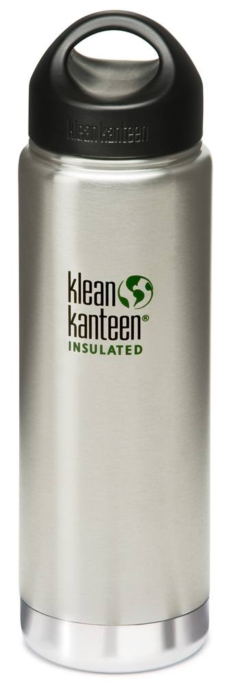 Klean Kanteen - Stainless Steel Water Bottle Wide Insulated with Stainless Loop Cap Brushed Stainless - 20 oz.