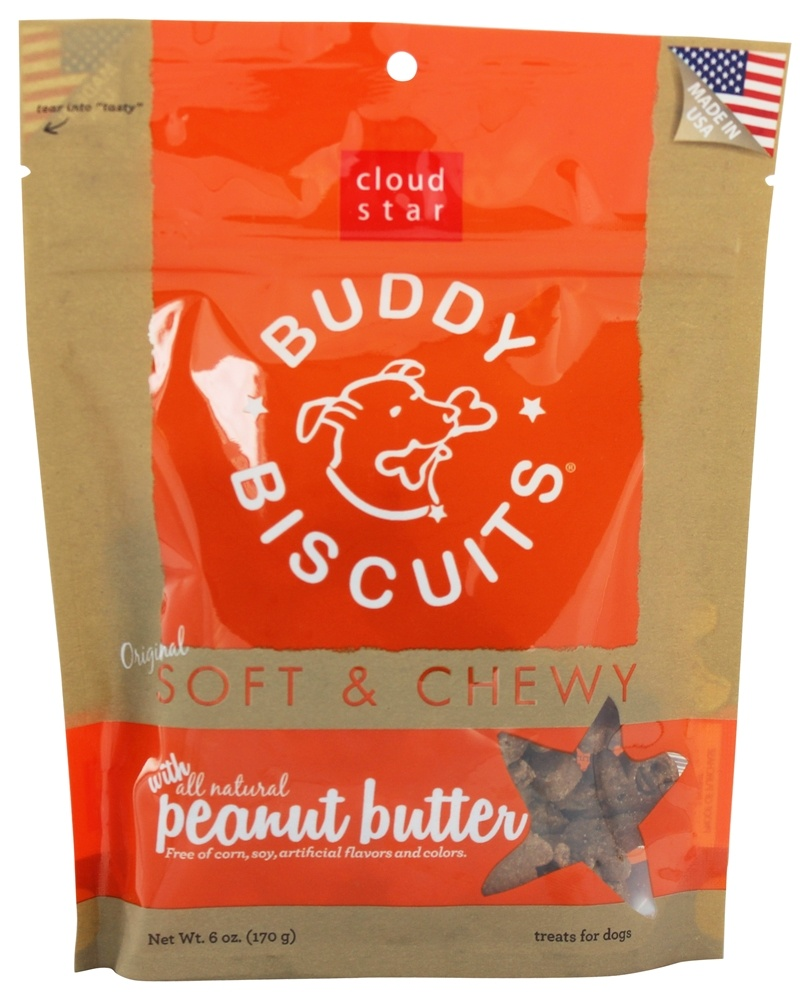 Cloud Star - Buddy Biscuits Soft & Chewy Dog Treats Peanut Butter - 6 oz.