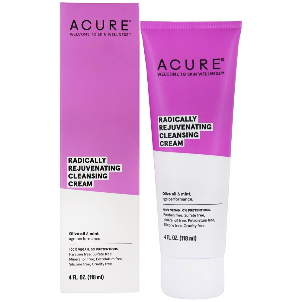 ACURE - Facial Cleansing Creme Argan Oil + Mint - 4 oz.
