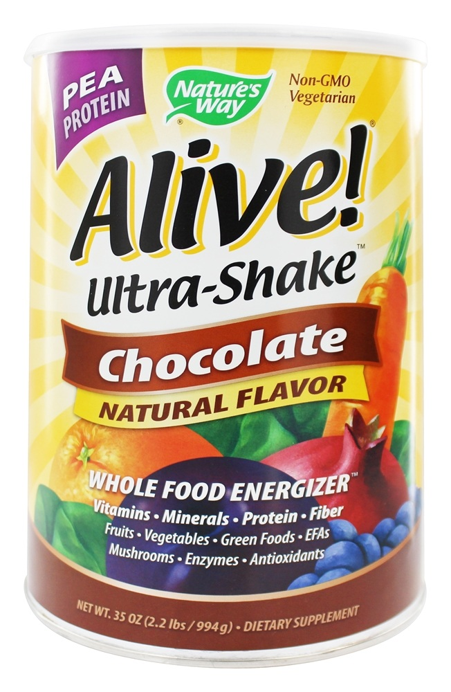 Nature's Way - Alive Pea Protein Ultra-Shake Whole Food Energizer Chocolate - 35 oz.