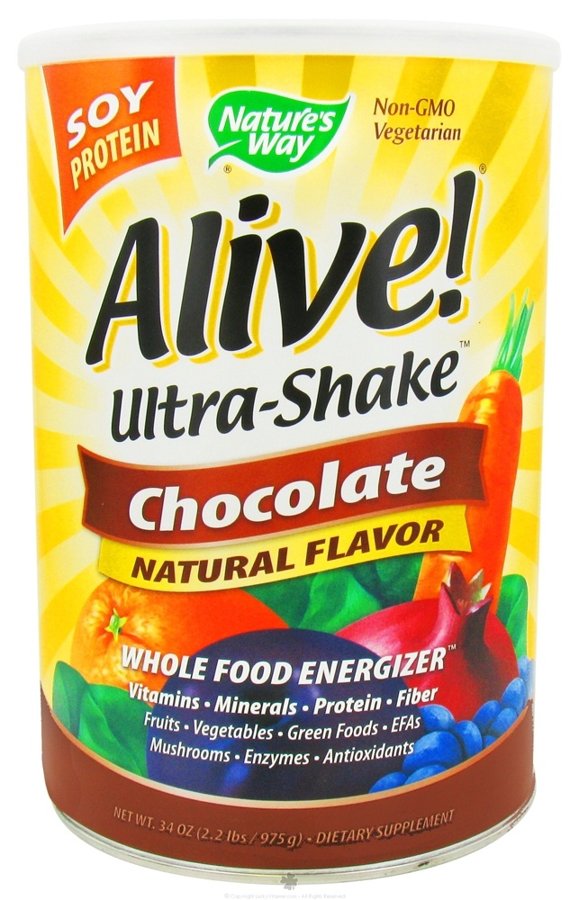 Nature's Way - Alive Soy Protein Ultra-Shake Whole Food Energizer Chocolate - 34 oz.