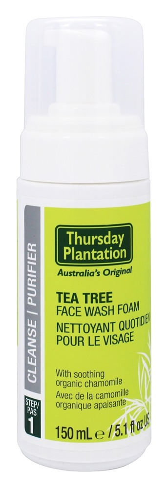Thursday Plantation - Tea Tree Face Wash Foam Step 1 Cleanse - 5.1 oz.