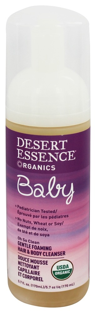 Desert Essence - Baby Oh So Clean 2 in 1 Gentle Foaming Hair & Body Cleanser - 5.7 oz. LUCKY PRICE