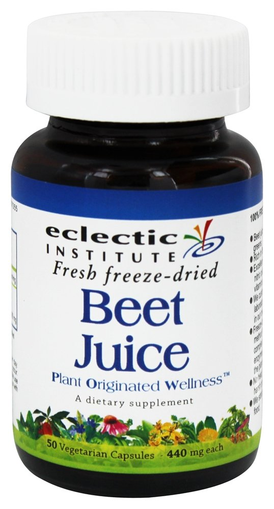 Eclectic Institute - Beet Juice Fresh Freeze-Dried 440 mg. - 50 Vegetarian Capsules