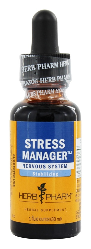 Herb Pharm - Stress Manager Adaptogen Compound - 1 oz.