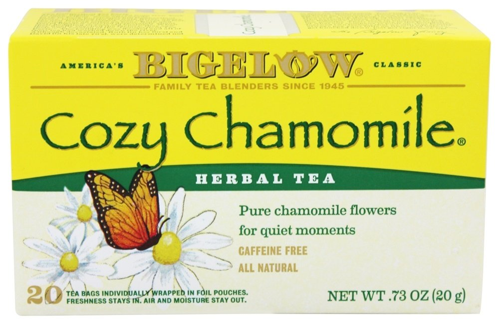 Bigelow Tea - Herb Tea All Natural Caffeine Free Cozy Chamomile - 20 Tea Bags