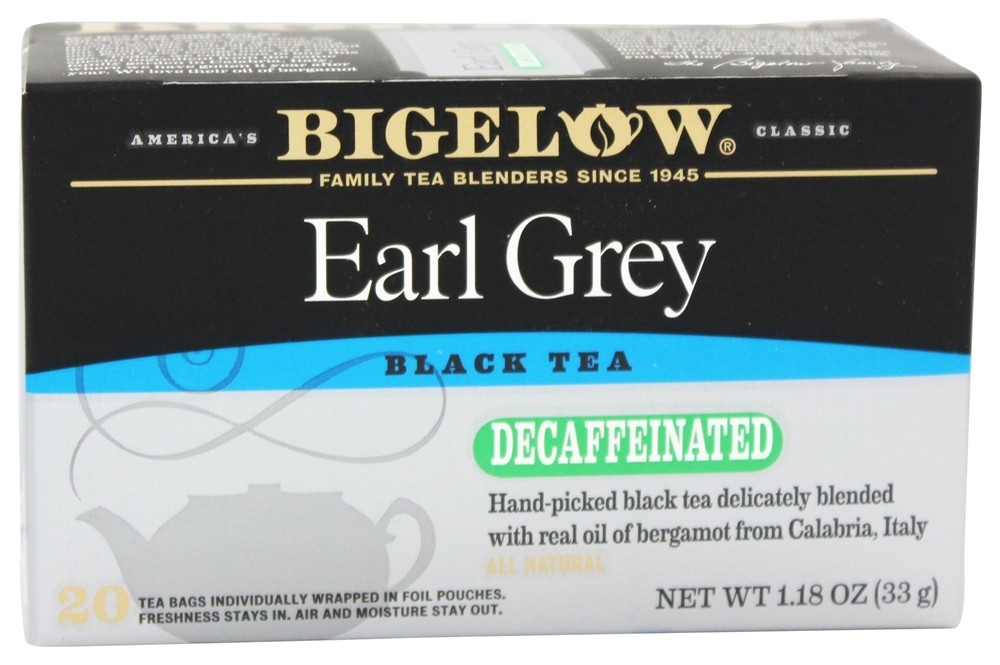 Bigelow Tea - Black Tea Earl Grey Decaffeinated - 20 Tea Bags