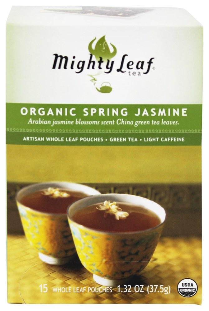 Mighty Leaf - Green Tea Organic Spring Jasmine - 15 Tea Bags