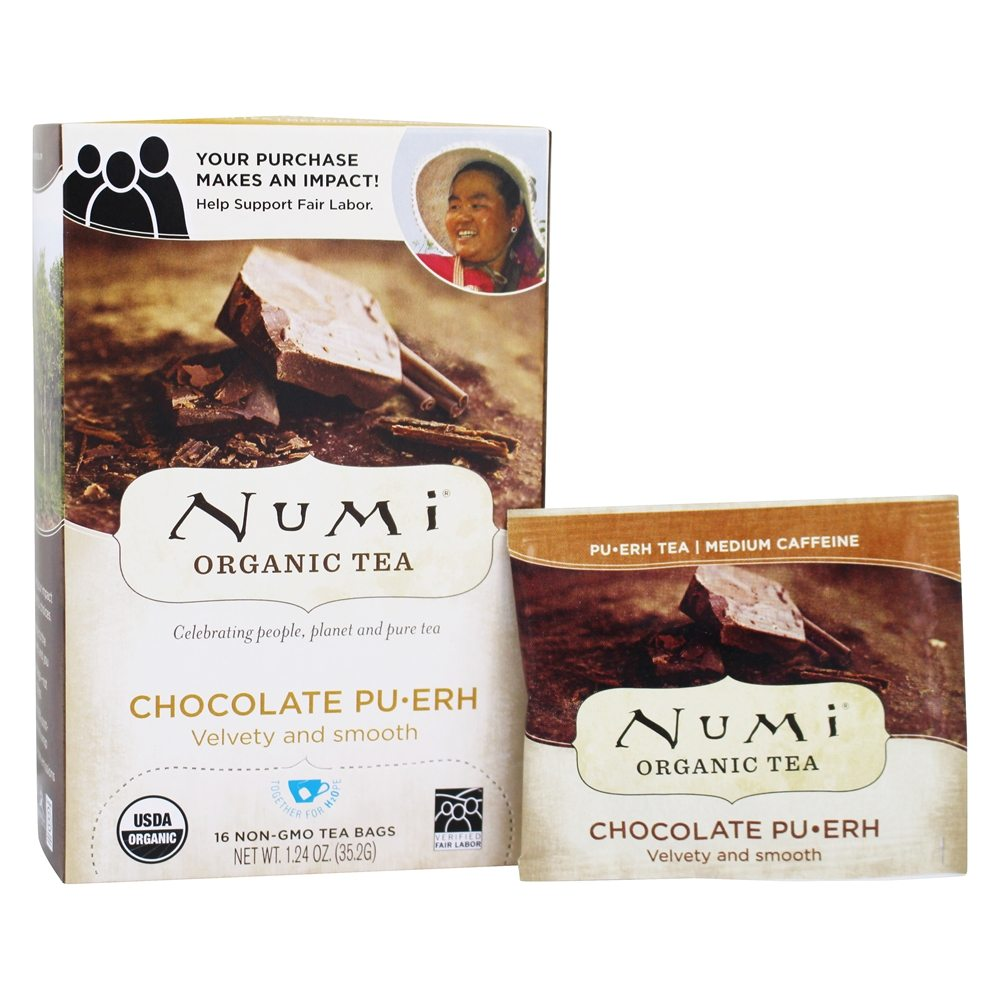 Numi Organic - Pu-erh Tea Chocolate - 16 Tea Bags