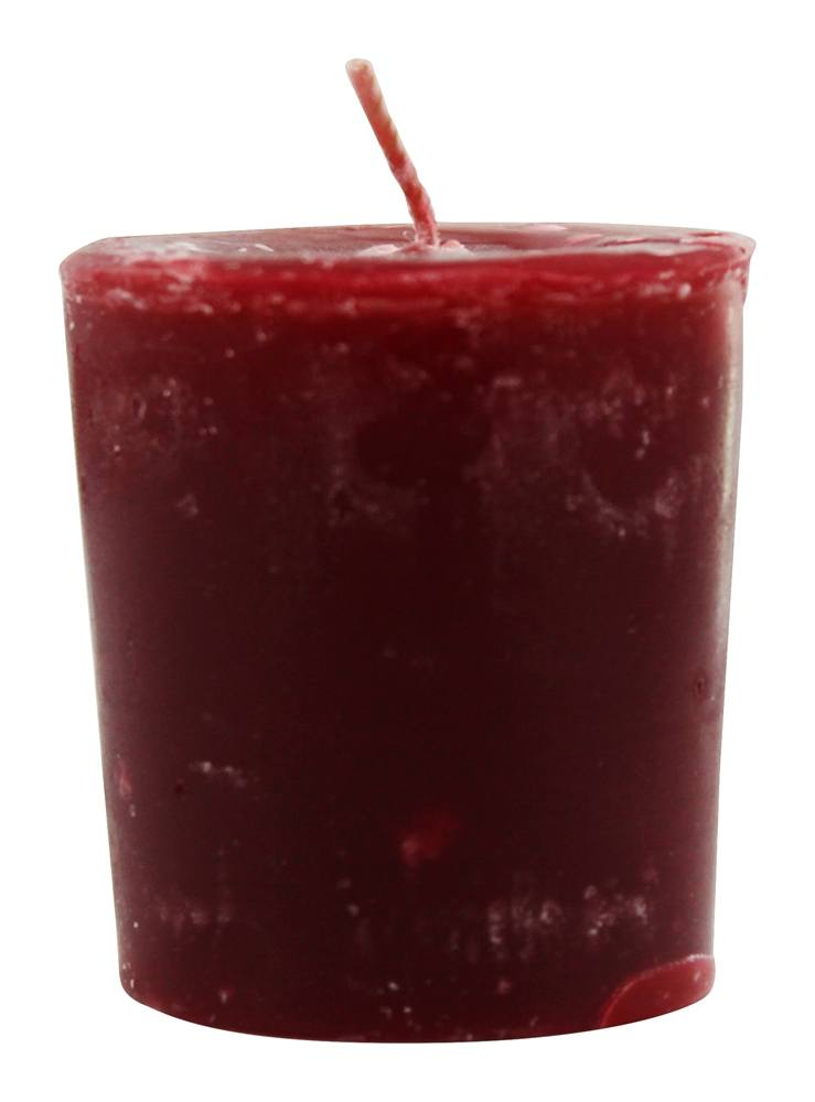 Aroma Naturals - Peace Ruby Holiday Naturally Blended Votive Eco-Candle Orange, Clove and Cinnamon