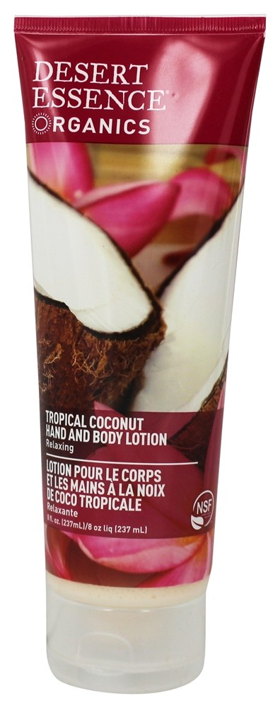 Desert Essence - Organics Hand And Body Lotion Tropical Coconut - 8 oz.