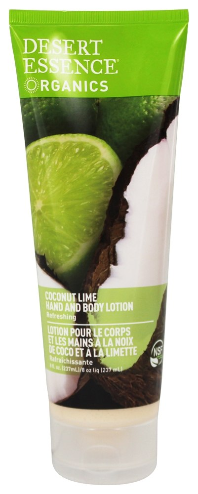 Desert Essence - Organics Hand And Body Lotion Coconut Lime - 8 oz.