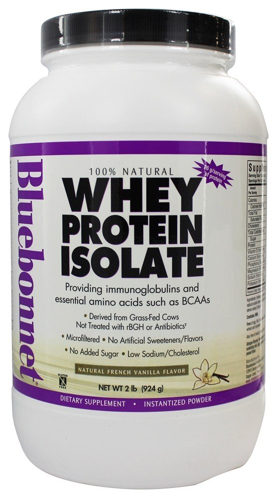 Bluebonnet Nutrition - 100% Natural Whey Protein Isolate Powder Natural French Vanilla Flavor - 2 lbs.