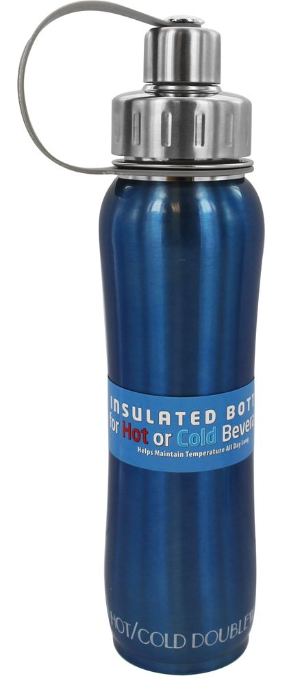 New Wave Enviro Products - Doublewall Hot/Cold Insulated Stainless Steel Water Bottle Sky - 17 oz.