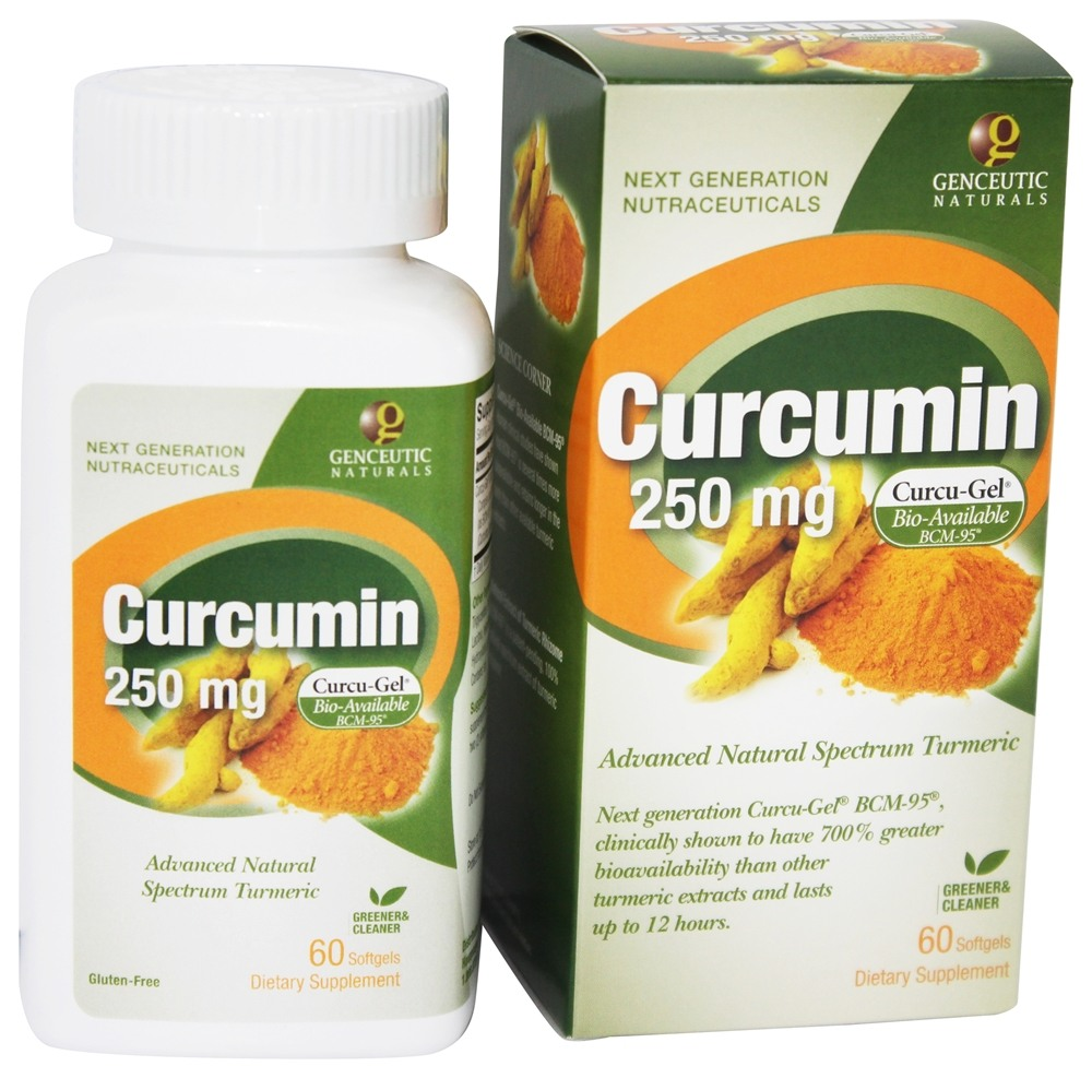 Genceutic Naturals - Curcumin Advanced Bio-Available Form with BCM-95 250 mg. - 60 Softgels