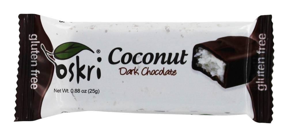 Oskri - Gluten Free Mini Coconut Bar Dark Chocolate - 0.88 oz.