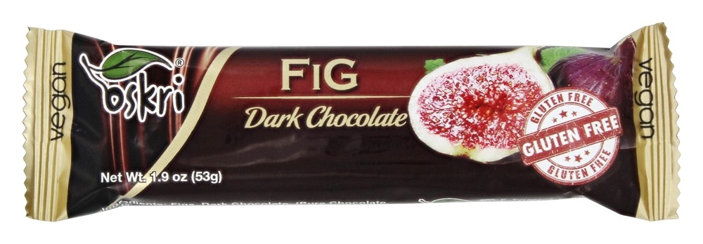 Oskri - Gluten Free Fig Bar Dark Chocolate - 1.9 oz.