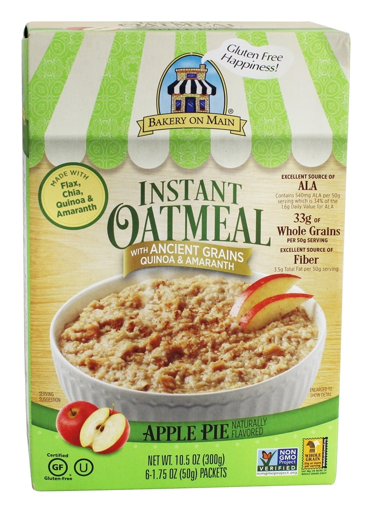 Bakery On Main - Instant Oatmeal Apple Pie Flavored - 10.5 oz.