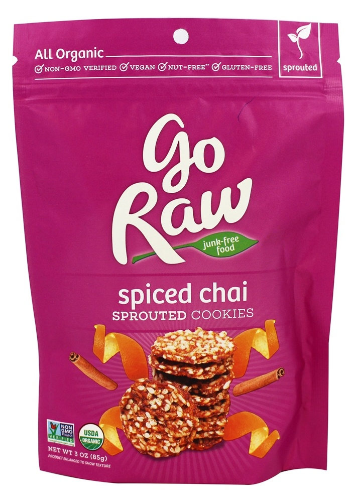 Go Raw - Sprouted Cookies Spiced Chai - 3 oz.