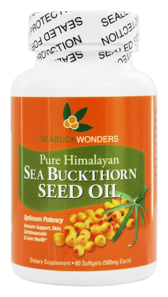 Seabuck Wonders - Sea Buckthorn Seed Oil 500 mg. - 60 Softgels