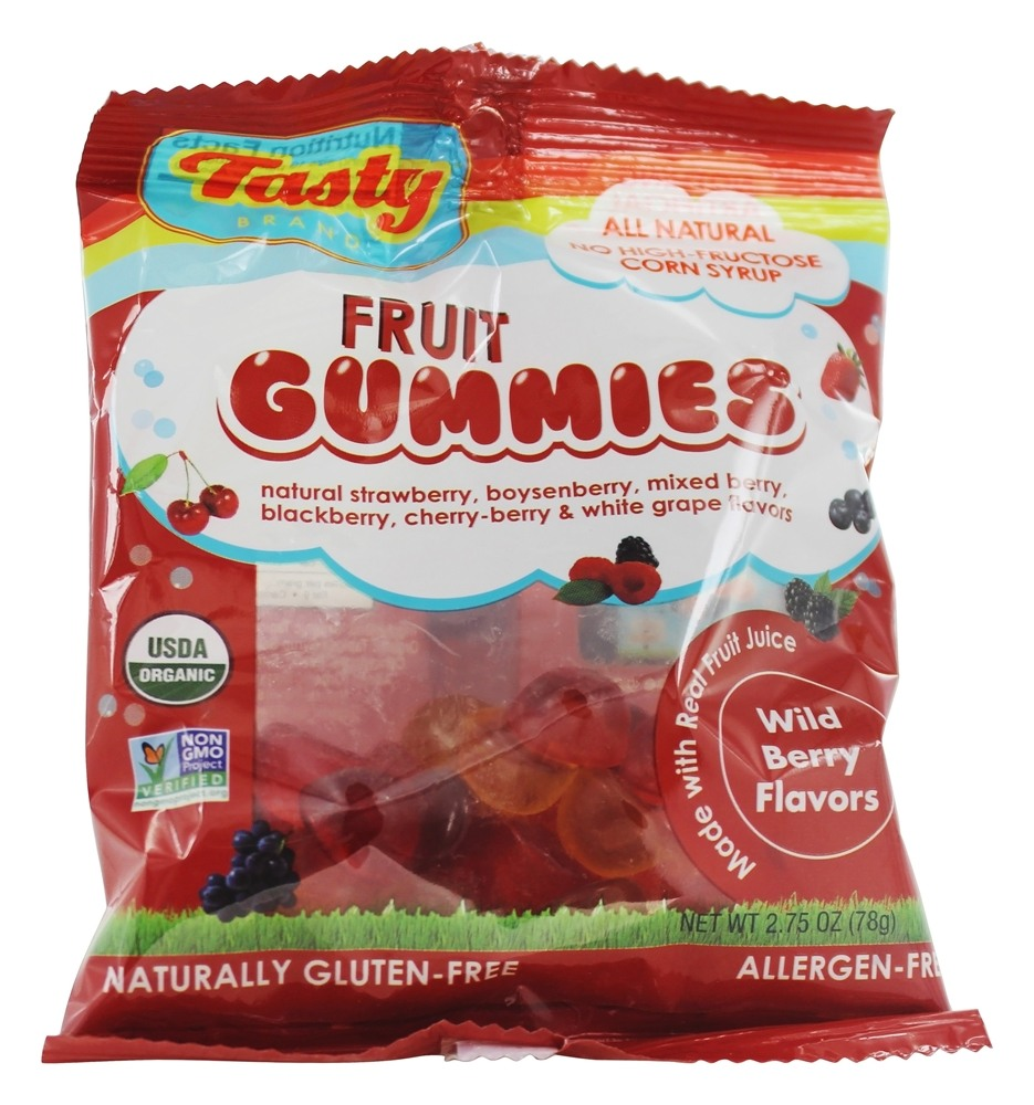 Tasty Brand - Organic Wild Berry Fruit Snacks Gummies For Kids 2-102 - 2.75 oz.
