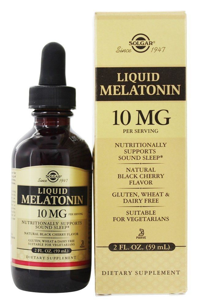 Solgar - Liquid Melatonin 10 mg. - 2 oz.