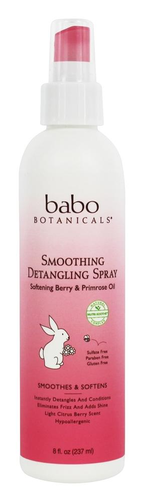 Babo Botanicals - Smoothing Detangling Spray With Berry & Evening Primrose Oil - 8 oz.