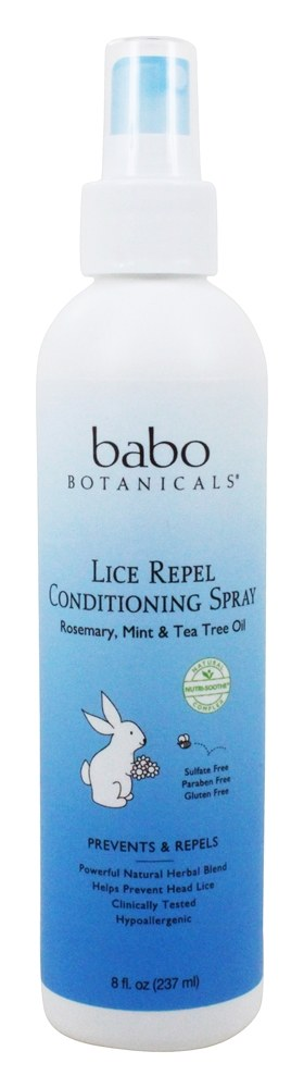 Babo Botanicals - Lice Repel Conditioning Spray Rosemary Tea Tree - 8 oz.