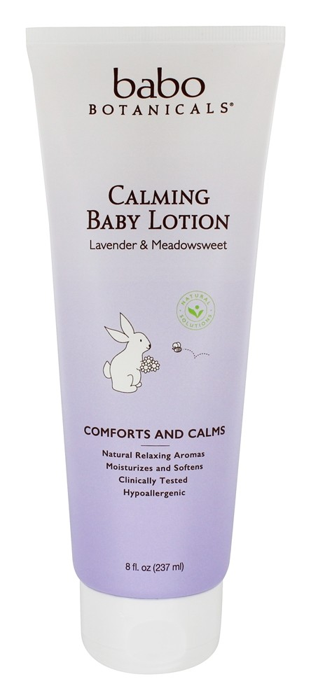 Babo Botanicals - Calming Baby Lotion Lavender Meadowsweet - 8 oz.