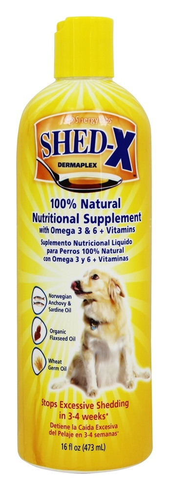 Synergy Labs - SHED-X Dermaplex Comprehensive Daily Nutritional Supplement For Dogs - 16 oz.