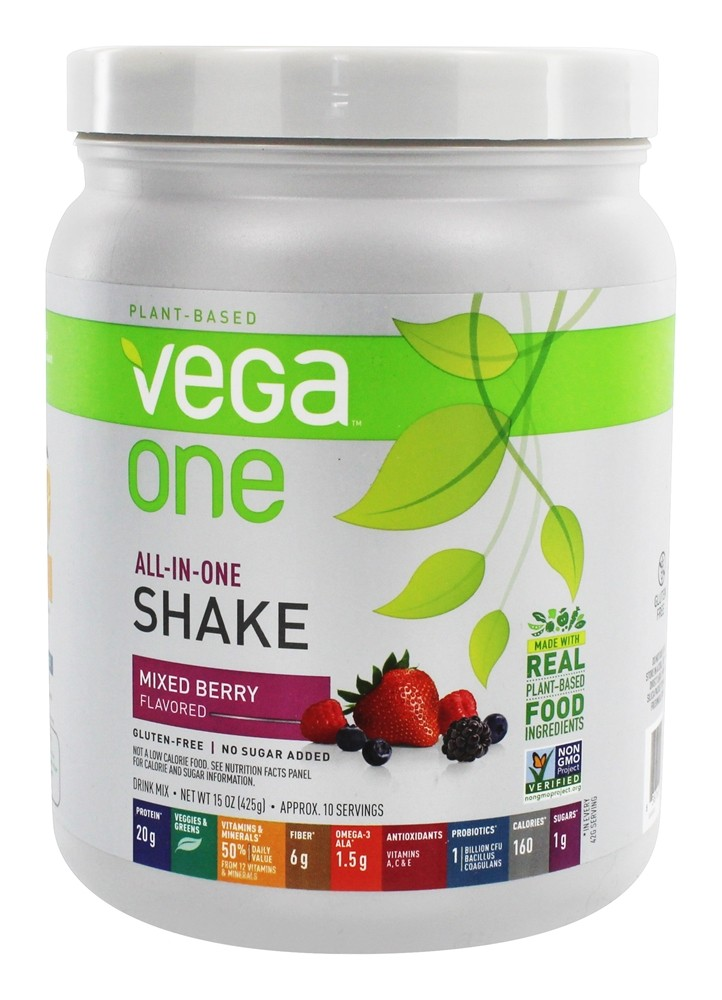 Vega - All-in-One Nutritional Shake Mixed Berry - 15 oz.