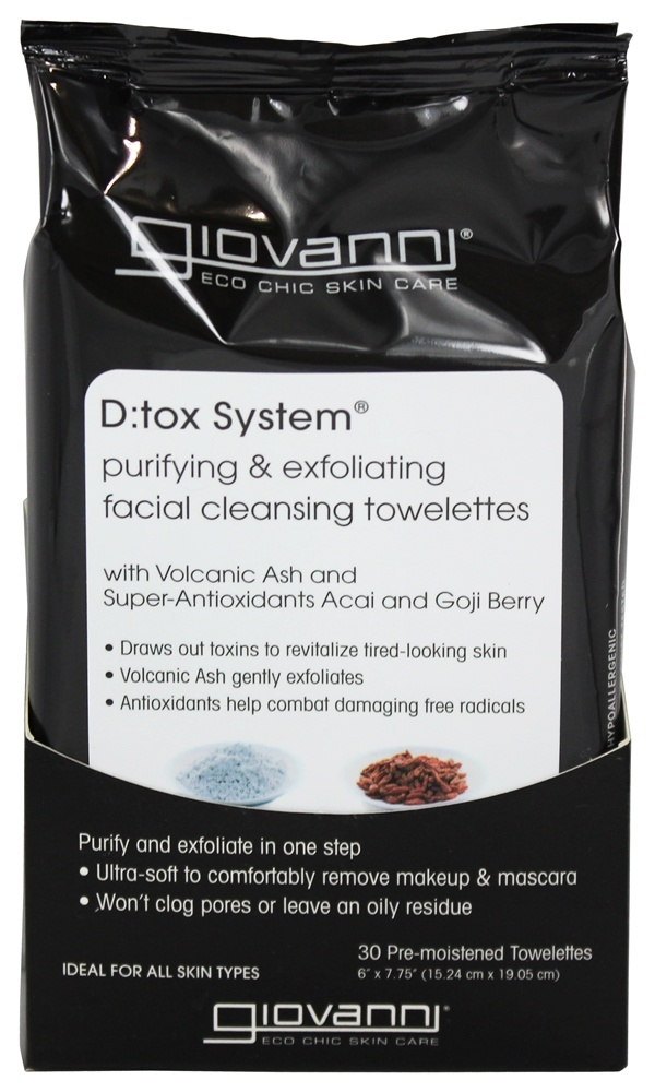 Giovanni - D:Tox System Purifying & Exfoliating Facial Cleansing Towelettes - 30 Towelette(s)